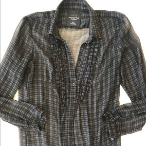 American Eagle Outfitters semi sheer top blouse M